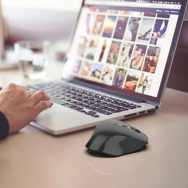 Jelly Comb-ratón inalámbrico para videojuegos, recargable, 2,4G, diseño ergonómico, 6 botones, silencioso, para portátil, Notebook, escritorio 6
