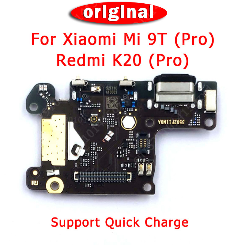 Original Spare Parts For Xiaomi Mi 9T Charging Port For Redmi K20 Pro Charge Board USB Plug PCB Dork Connector Flex Cable