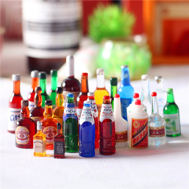 Lot of Dollhouse Miniature Groceries with Grocery Bag