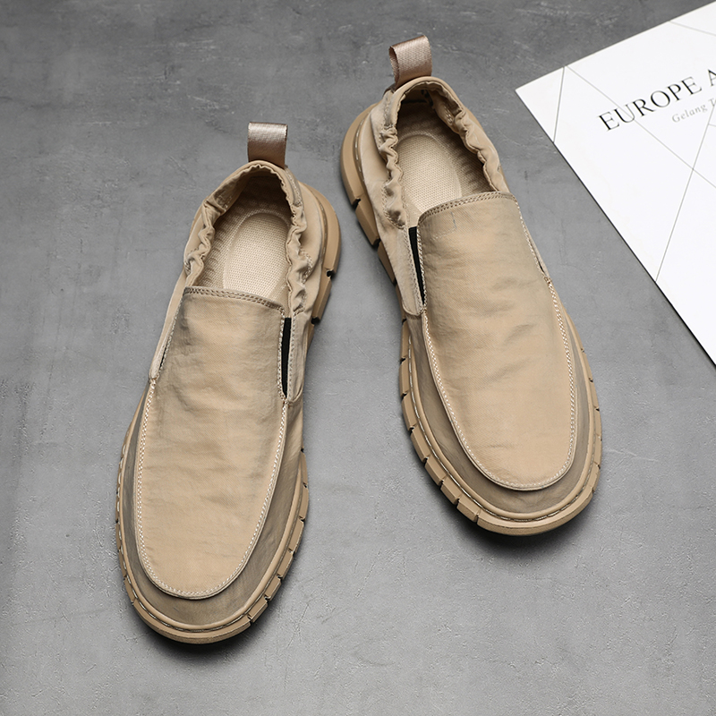 Image 2 - All Season Fashion Loafers Shoes Men Summer Mens Light Loafers Khaki Outdoor Casual Shoes For Men High Quality Shoes Man MaleMens Casual Shoes   -