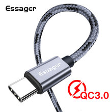 лучшая цена Essager USB Type C Cable 3A Fast Charge 3m USBC Type-C Cable for Xiaomi K20 Samsung S10 Oneplus 7 Pro Mobile Phone USB-C Charger