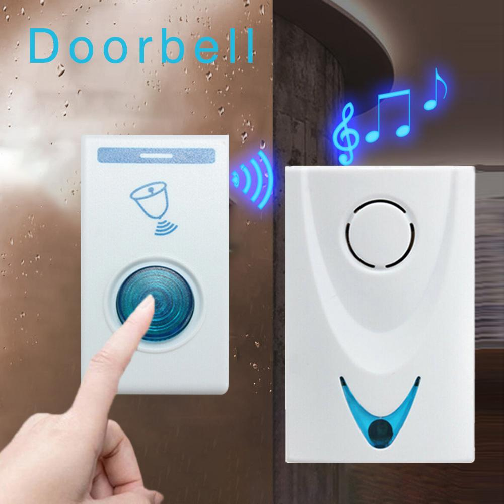 Remote Control Wireless Doorbell Long Distance 32 Ringtones Portable Wireless Digital Door Bell Sound Music Chime 100M Range