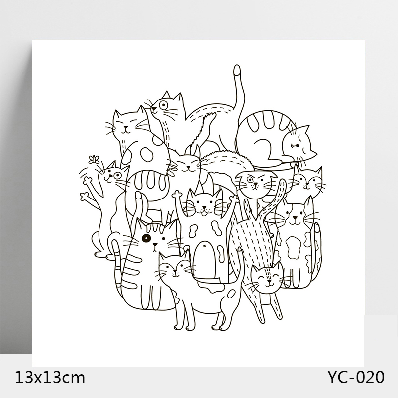 AZSG Cat Clear Stamps For DIY Scrapbooking Card Making Album Decorative Silicone Stamp Crafts in Stamps from Home Garden