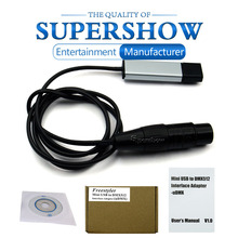 Professional USB to DMX512 Interface Adapter LED Computer PC Stage Lighting Control Cable Freestyler Download Stage DJ Equipment cheap supershowlight Stage Lighting Effect DMX Stage Light SS-132 90-240V Professional Stage DJ