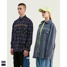 Cooo Coll Men women fashion shirts hip hop kanye west winter casual harajuku printing streetwear tops Plaid retro clothes