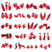 50 Pcs K9 Series High-end Nail Flat Glass Diamond Big Red Nail Diamond Diy Art Glamour Accessories Professional Nail Decoration