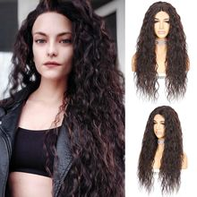 BeautyTown Kinky Curly Futura Heat Resistant Hair JBrown 1B Black Lace Wig Gold Women Daily Makeup Synthetic Lace Front Wig