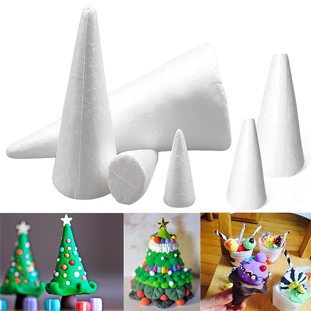 Height:25cm White Styrofoam cones 10pcs