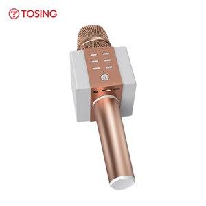 Image 3 - מקצועי Bluetooth אלחוטי מיקרופון קריוקי מיקרופון רמקול כף יד מוסיקה נגן מיקרופון שירה מקליט KTV מיקרופון