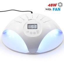 SUN669 48W UV lampe à LED lampes à glace vernis à ongles Gel sèche manucure sèche linge pour deux mains avec ventilateurs tout gel ongles Art