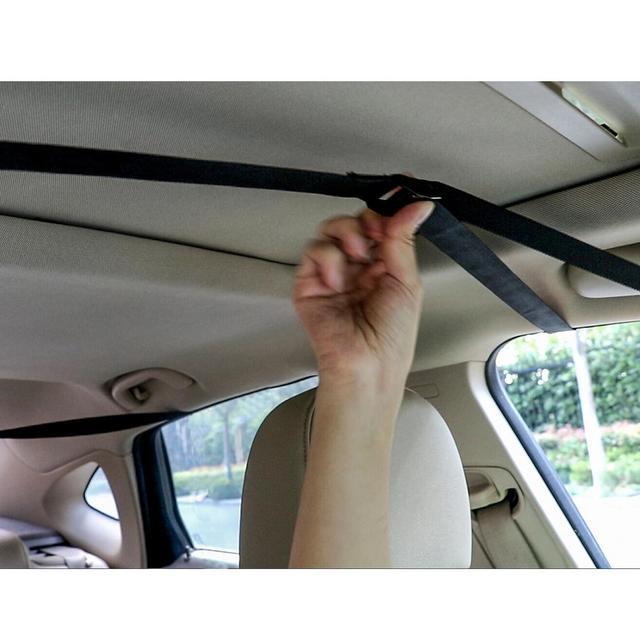 Porte-bagages sur le toit de voiture, universel, souple, pour l'extérieur, charge 60kg, facile à installer, amovible, 600D Oxford et PVC 5