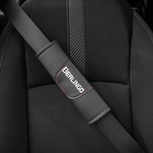 Para Citroen Berlingo 2 uds asiento de cuero Pu cinturón de asiento almohadilla para el hombro