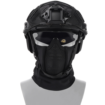 Tactical Headgear Mask Airsoft Half Face Mesh Mask Cycling Hunting Paintball Protective Mask Shadow Fighter Headgear 1