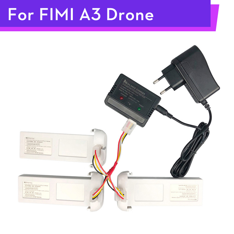Original <font><b>FIMI</b></font> <font><b>A3</b></font> Drone Balanced Charger Adaptor <font><b>Battery</b></font> 3 in 1 Charger Cable RC Quadcopter Spare Parts Accessories Wholesale image