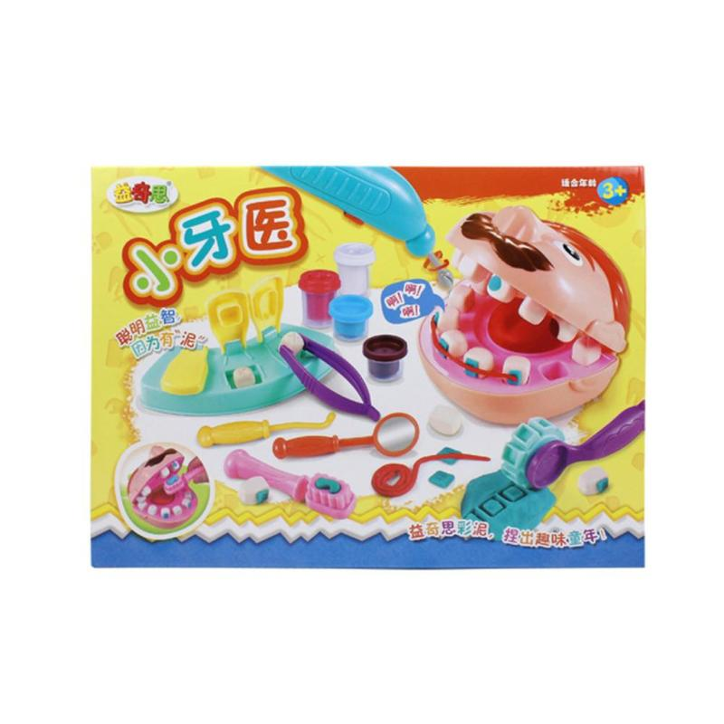 1 Set Plasticine Little Dentist Toy Set Magic DIY Tooth Extraction Game Clay Mold Tool Suit Child Educational Toy Christmas Gift
