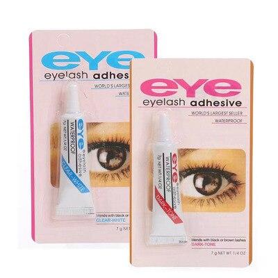 2pcs False Eyelashes Makeup Adhesive False Eyelash Glue Clear-white Dark-black Waterproof Eye Lash Cosmetic Tools 4