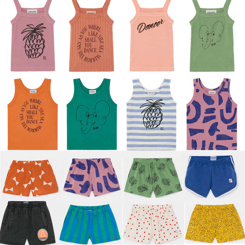 Kids Vest 2020 BC Brand Spring Summer Boys Girls Sleeveless New Print T Shirts Baby Children Cotton Tops Tees Clothes