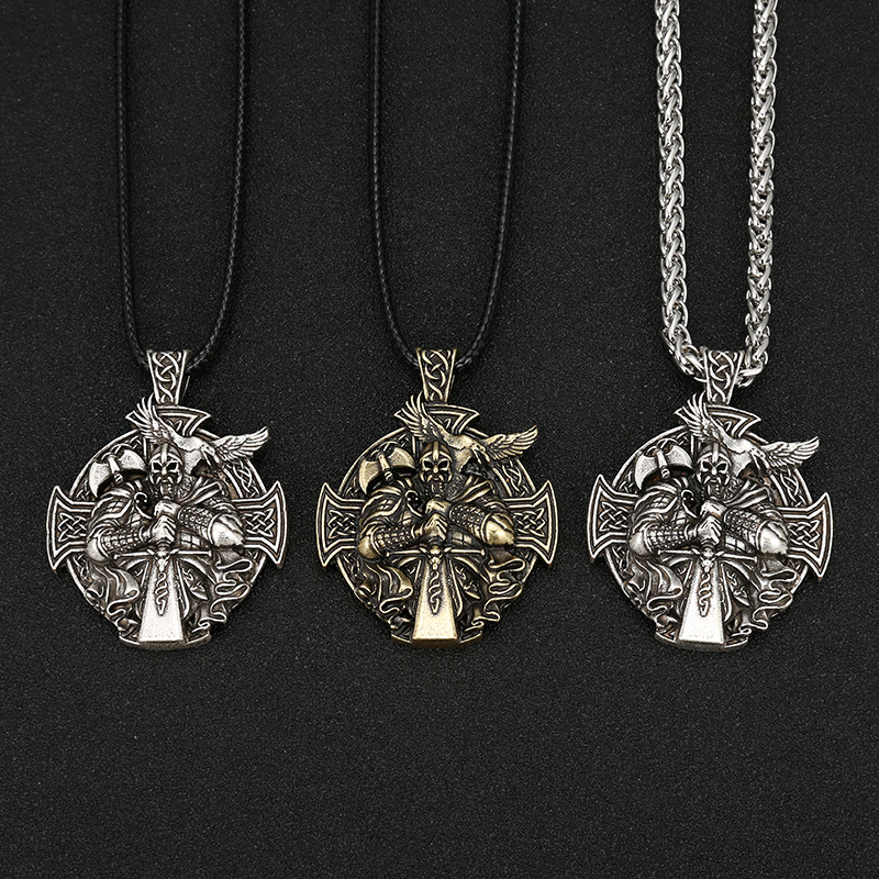 Collier Antique viking argent  6
