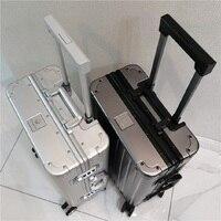 20/24/28 zoll Aluminium Hard Shell Trolley Gepäck Hohe-qualität Mode Reise Koffer Business Reise Fall tragen auf Kabine