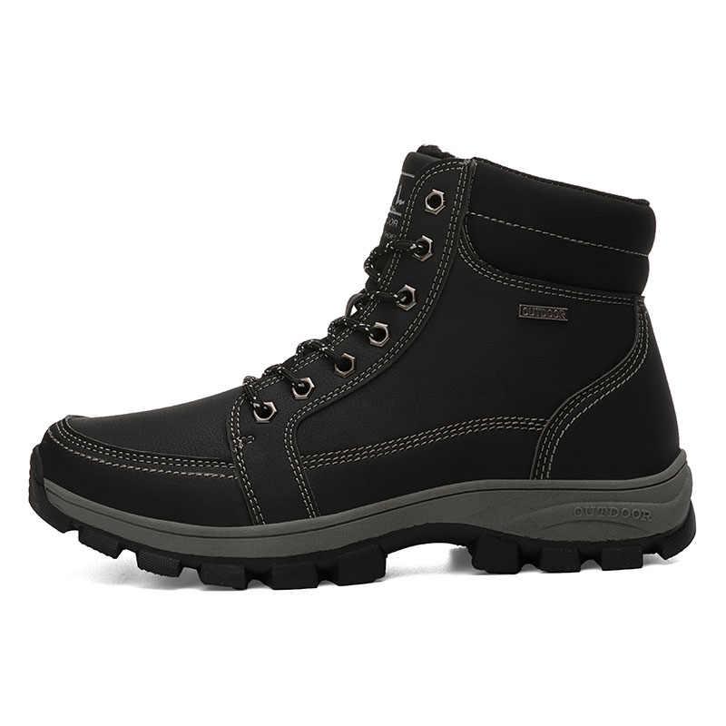 Супер теплые зимние мужские ботинки зимние ботинки из натуральной кожи Мужская зимняя рабочая обувь мужские армейские ботильоны для мужчин Botas JKPUDUN