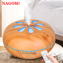 550ml Air Humidifier Sun Flower Aroma Essential Oil Diffuser Remote Control With 7 Color Night Lights For Home Office