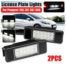 Par LED de las luces de la matrícula de 6340 A3 para Peugeot 106, 207, 307, 308, 406, 407, 508 Citroen C3 C4 C5