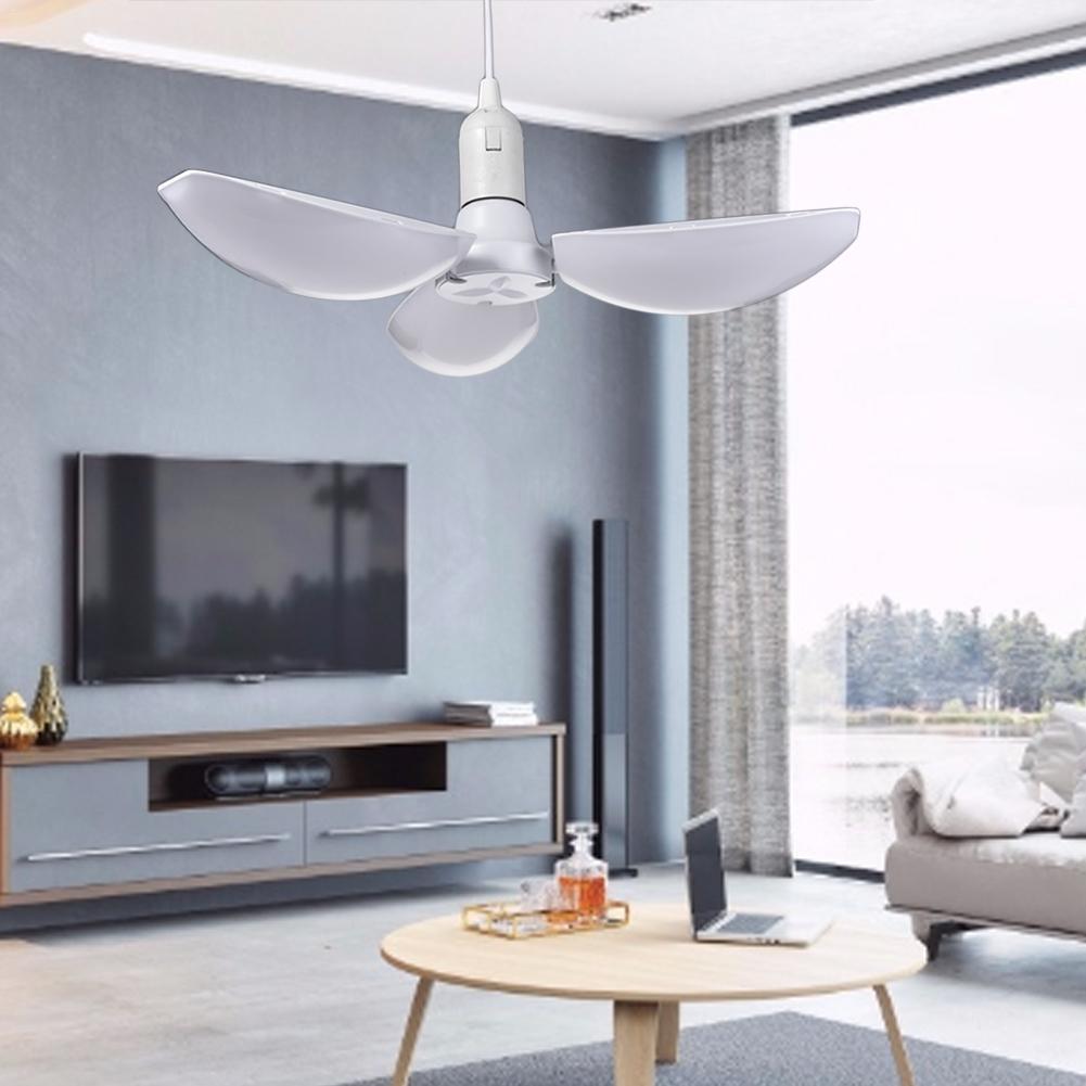 60W LED Garage Light Bulb Deformable Working Light Ceiling Lamp E27/E26 Bulbs Workshop Warehouse Light 100-265V