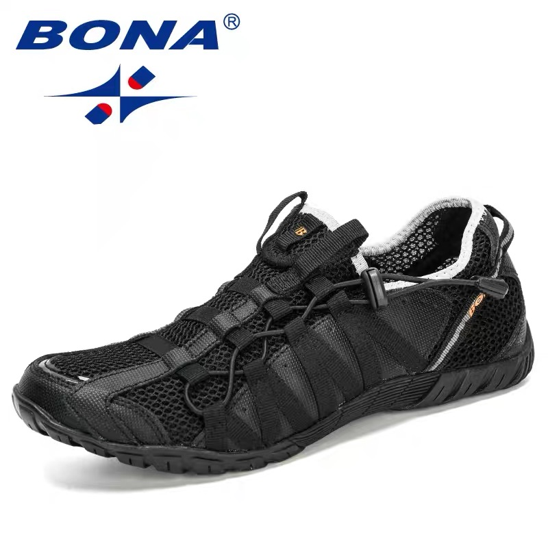 BONA 2020 Summer Sneakers For Men Breathable Beach Shoes Outdoor Running Shoes Masculino Adulto Sapato Masculino Men Sports Shoe