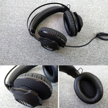 1 Pair Foam Ear Pads Pillow Cushion Cover for kingston HyperX Cloud Revolver S Drop Shipping фото
