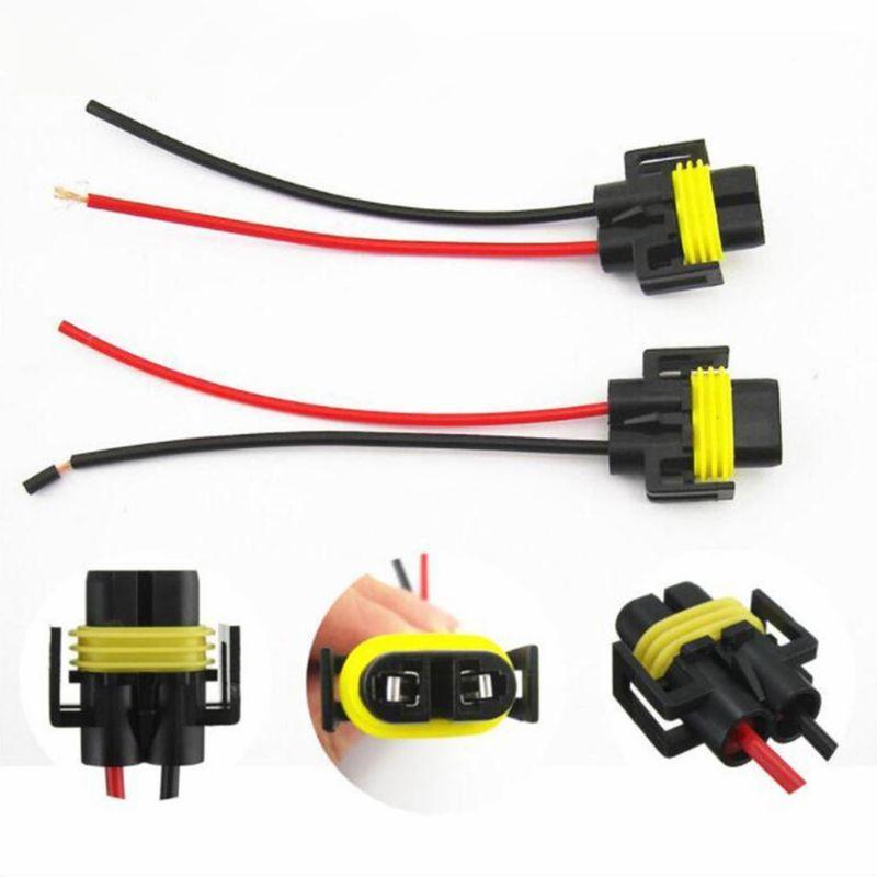 2 pcs H11 H8 Wire Harness Socket Female Adapter for Headlight Fog Light