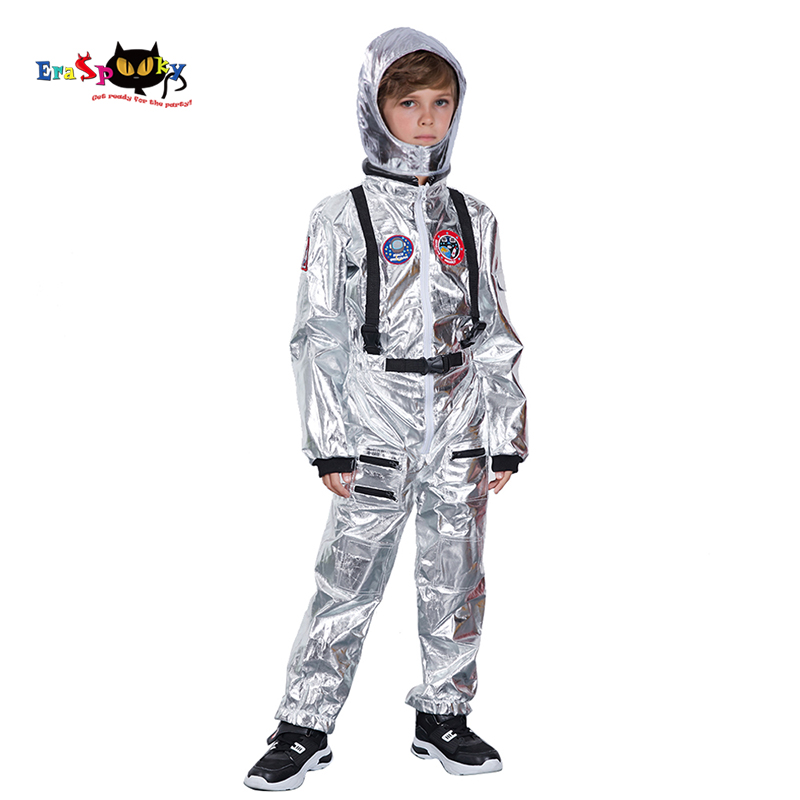 H3667df9e290e43789f97103d85125b4cx - Men Astronaut Alien Spaceman Cosplay Helmet Carnival Adult Women Pilots Outfits Halloween Costume Group Family Matching Clothes
