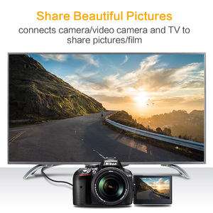 Image 5 - Кабель Micro HDMI HDMI 1 м 2 м 3 м 5 м 3D 4K Male Male высококачественный позолоченный HDMI адаптер для планшета HDTV Camera PC