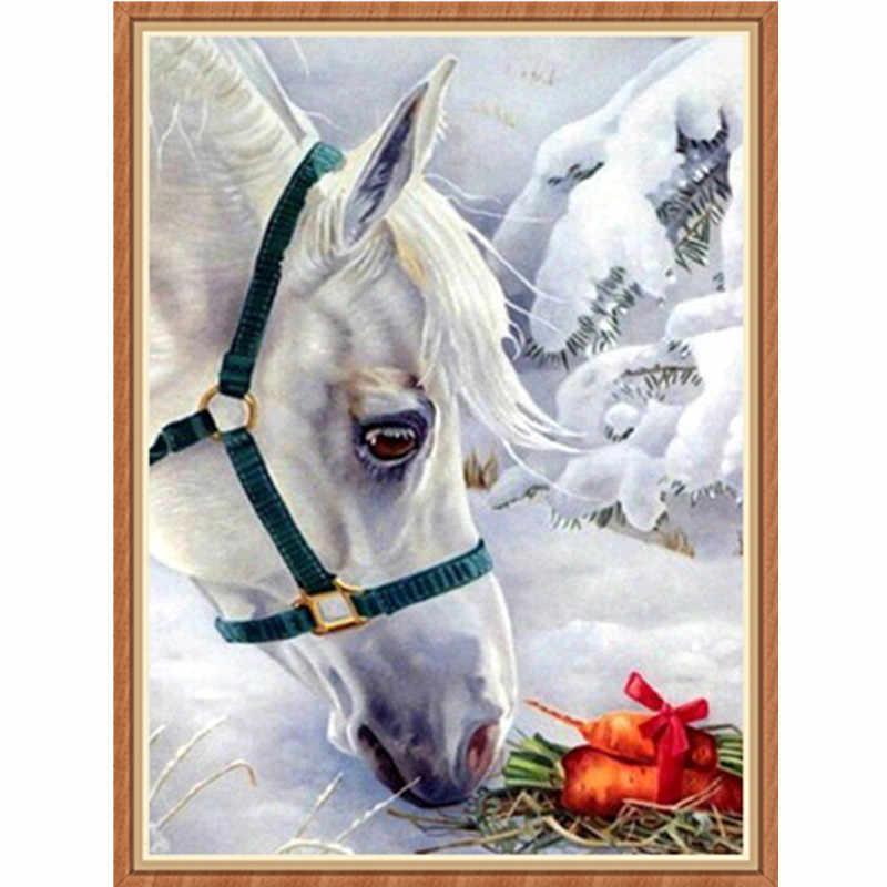 Diamante bordado padrão animal pintura diamante strass diamante cavalo imagem diamante mosaico ponto cruz