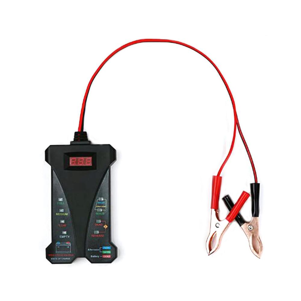 Battery Tester Car Fault Diagnosis Instrument Digital Display Battery Tester 12V LED