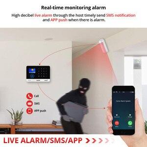 Image 3 - 2.4 Inch Tft Scherm Wifi Gsm Wireless Home Security Alarmsysteem Bewegingsmelder App Controle Solar Siren Rookmelder Kit