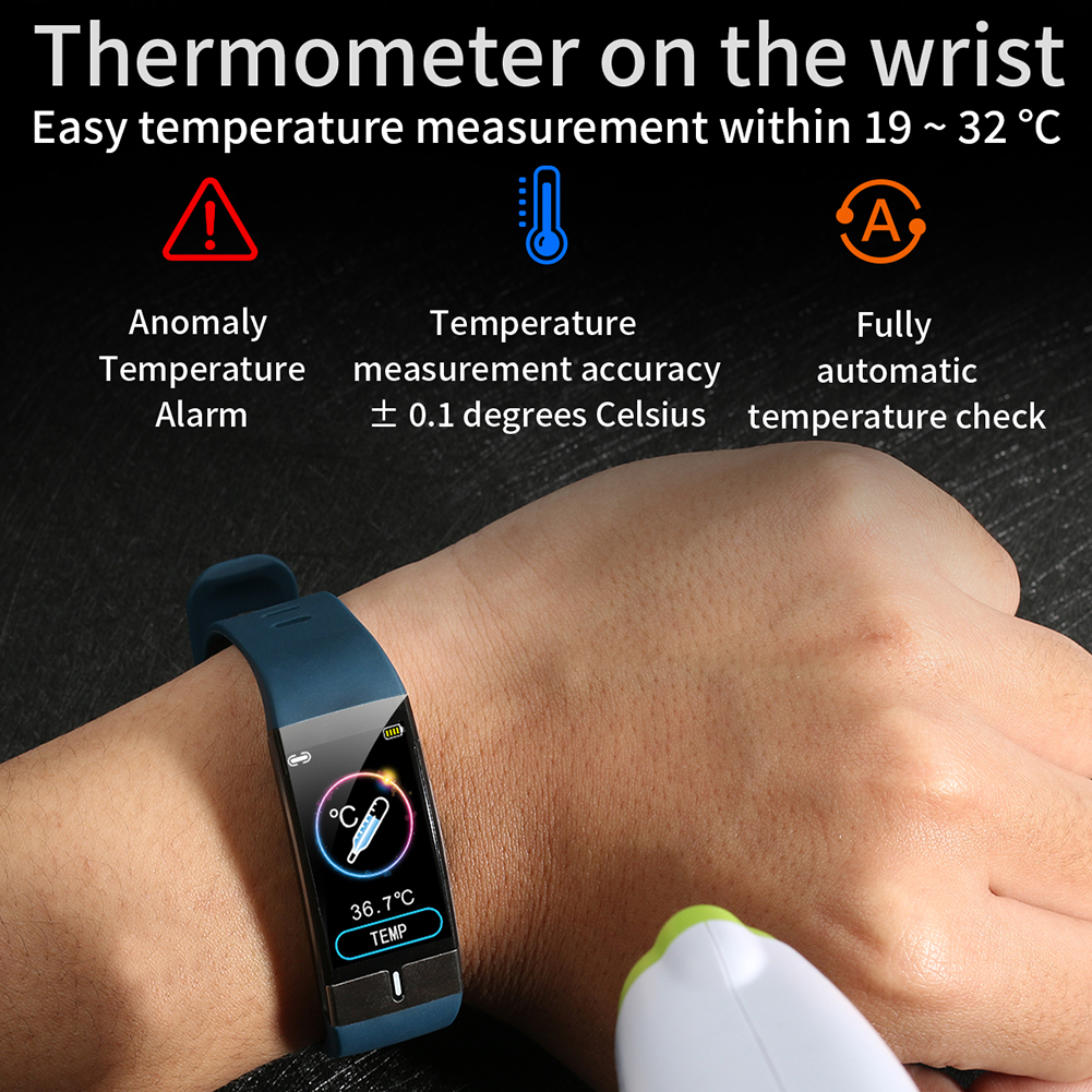Fitness Tracker Bracelet Body Temperature Monitor