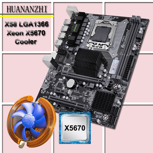 Image 1 - New HUANANZHI X58 motherboard CPU kit with CPU cooler USB3.0 X58 LGA1366 motherboard CPU Xeon X5670 2.93GHz 6 core 12 thread