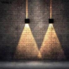Современные квадратные светодиодные Настенные светильники водонепроницаемые