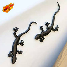 3D Metal Gecko Car Accessories Sticker For BMW 1 3 5 6 Series E36 E39 E46 E91 For Audi Quattro Sline A1 B7 B8 A7 Q3 Q7 S4 S5 S6(China)