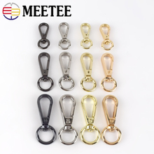 Meetee 10/30pcs 8/10/13mm Metal Luggage Bags Dog Buckle Lobster Swivel Trigger Clips Snap Hook Handbag Hanger Key Chain DIY Sew