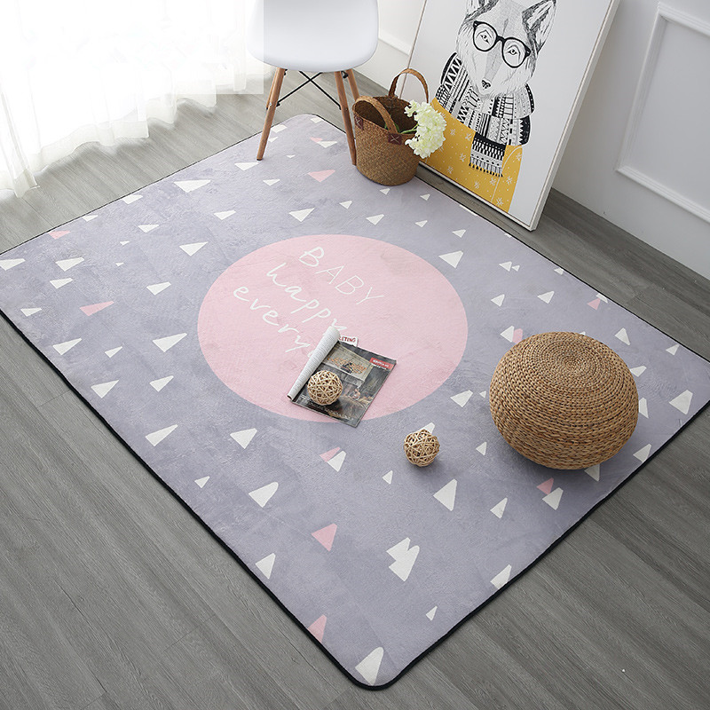 Hot Sale Cartoon Children Delicate Soft Carpet For Baby Crawling Living Room Children Rug Home Floor Children Play Door Mat