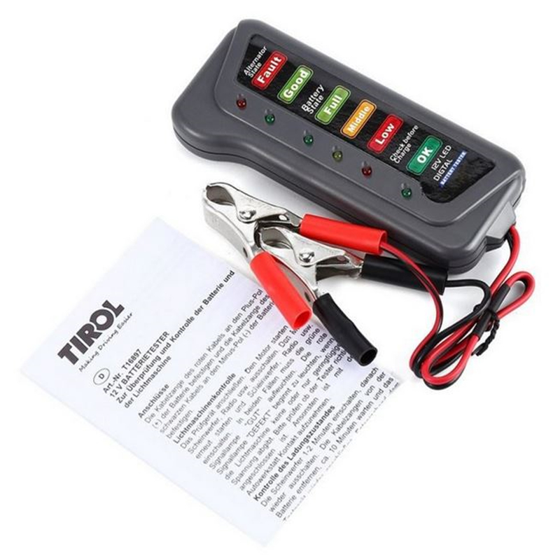Battery Tester 12V Analyzer Car Battery Tester Car Analyzer Diagnostic Tool Auto Scanner