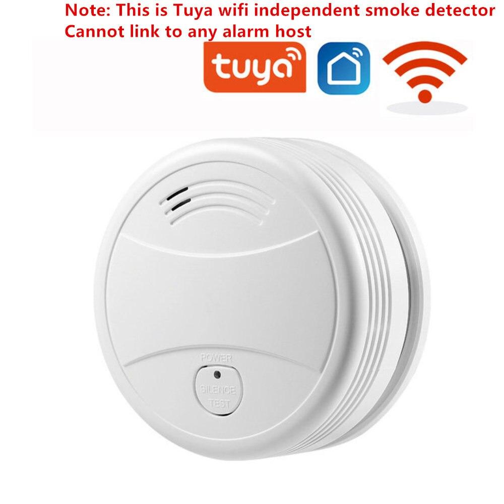 Датчик дыма SmartYIBA, независимый датчик, пожарная сигнализация, домашняя система безопасности или Tuya, Wi-Fi/433 МГц, дымовая сигнализация, противо...