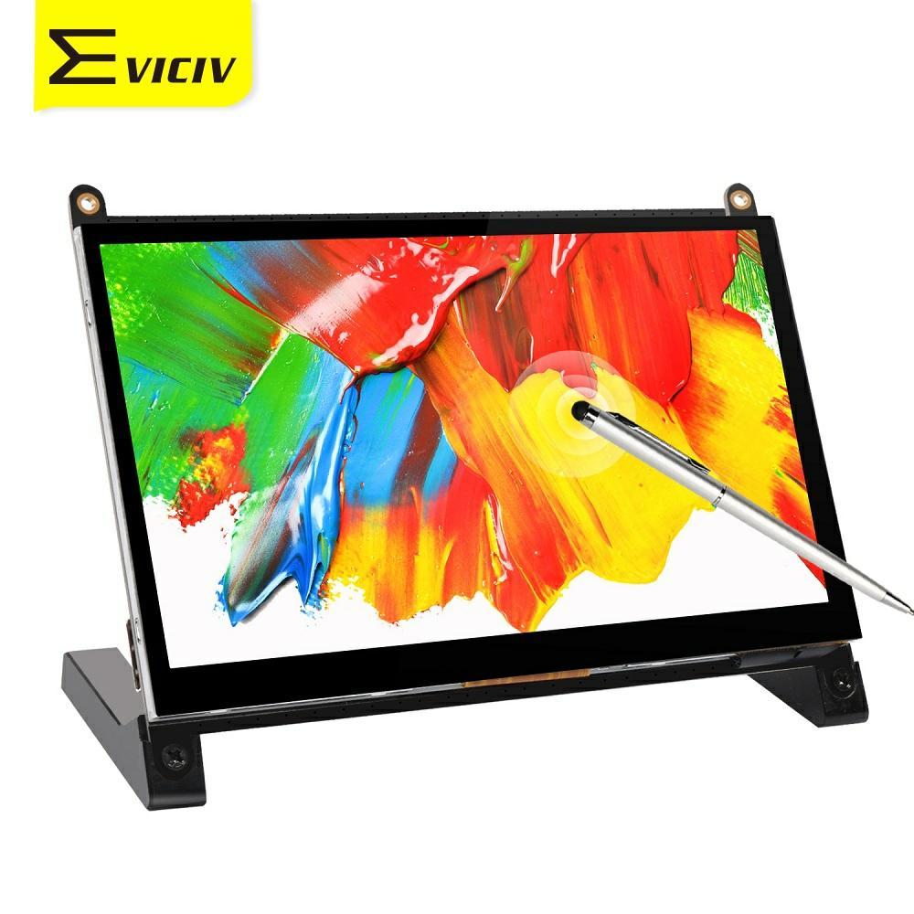 Eviciv projekt dla Raspberry 7 cal monitora ekran dotykowy przenośny wyświetlacz 5 punkt rysik do ekranu dotykowego 169 1024x600 178 szeroki kąt