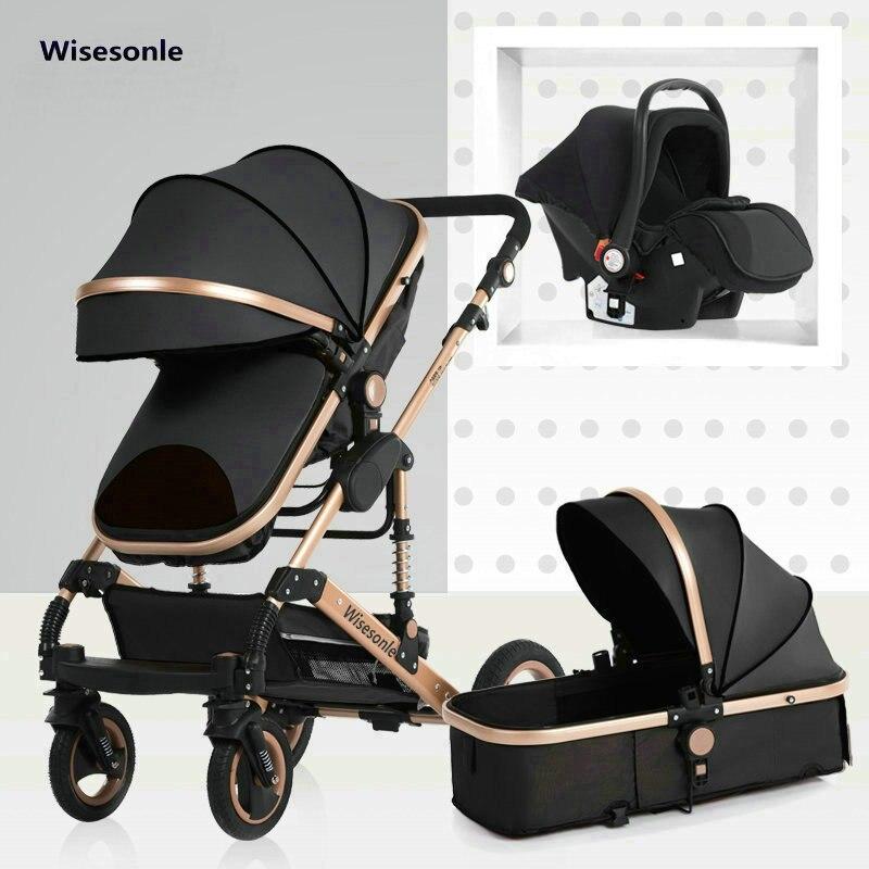 2020 novo carrinho de bebê 3 para 1 alta paisagem carrinho de bebê dupla face crianças frete grátis em quatro estações do ano em rússia