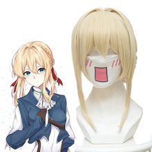Anime Violet Evergarden Cosplay Wigs Wig Synthetic Hair Halloween Party Women Game