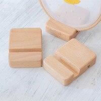 5 teile/paket Buche Holz Stickerei hoop Basis Handy Ständer Halter Tragbare Doppel Slot Halterung bestickt ornamente