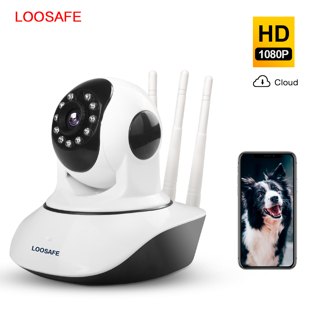 LOOSAFE 2MP Cloud HD WIFI IP Camera Night Vision Home Security Camera Wireless P2P IP Camara PTZ Wifi Indoor IR Cam Audio ONVIF