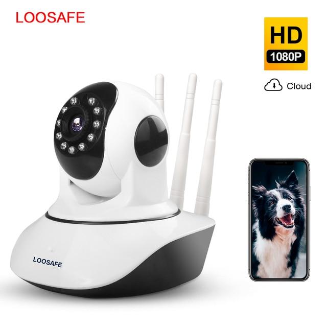 LOOSAFE 2MP Cloud HD WIFI กล้อง IP Night Vision กล้องรักษาความปลอดภัยหน้าแรกไร้สาย P2P IP Camara PTZ WiFi ในร่ม IR CAM ONVIF