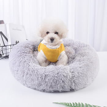 (vip Order Link) Soft Long Plush Bed For Dog Cat Winter Warm Dog Sofa House Mattress For Small Large Pet Dogs Fluffy Kennel